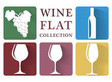Wine symbol collection simple Stock Image