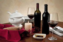 Wine table setting Royalty Free Stock Photography