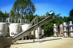 Wine tanks Royalty Free Stock Photos