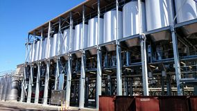 Wine Tanks and Fermenters In Winery Royalty Free Stock Images