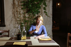 Wine taster Royalty Free Stock Photo