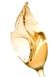 Wine Tasting. Splashing white wine on a white background Royalty Free Stock Photography