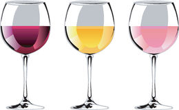 Wine tasting. Trio of wine graphics great for advertising your wine sale, tasting or party royalty free stock images