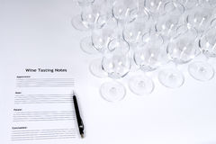 Wine Tasting. Empty wine glasses at a wine tasting event Stock Images