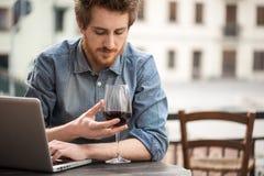 Wine tasting at the bar Stock Image