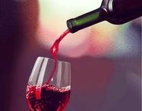 Wine tasting. Wine Wine Bottle Wineglass Glass Bottle Red stock photo
