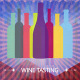 Wine tasting card Stock Images
