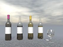 Wine tasting - 3D render Royalty Free Stock Photography