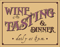 Wine Tasting and Dinner Stock Photography