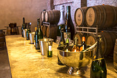 Wine Tasting Facility. Wine Cellar at Sula Vineyards royalty free stock photos