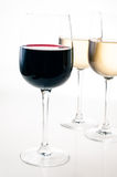 Wine-tasting, a few glasses of red and white wine Stock Photo