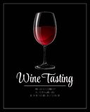 Wine tasting flyer template. Vector illustration Stock Images