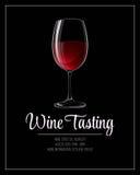 Wine tasting flyer template. Vector illustration. EPS 10 Stock Images