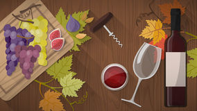 Wine tasting with food Royalty Free Stock Image