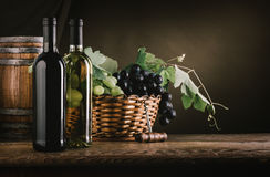 Wine tasting and fruit still life Stock Photography