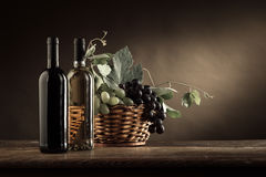 Wine tasting and fruit still life Royalty Free Stock Image