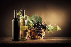 Wine tasting and fruit still life Royalty Free Stock Images