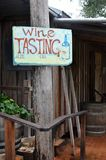 Wine Tasting Notice Board Royalty Free Stock Images