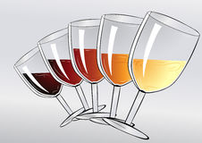 Wine tasting party Stock Image