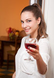 Wine tasting. Royalty Free Stock Image