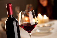 Wine tasting at restaurant Stock Images