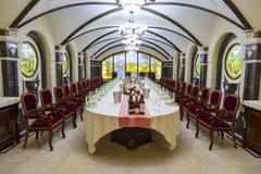 Wine tasting room called European Hall stock image