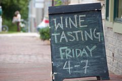 Wine Tasting Sign Royalty Free Stock Photography