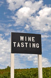 Wine Tasting Sign Stock Photos