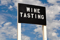 Wine Tasting Sign Stock Images