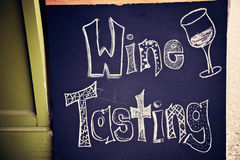 Wine tasting sign Royalty Free Stock Photos