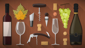 Wine tasting toolkit Stock Photo