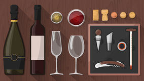 Wine tasting toolkit Royalty Free Stock Photo