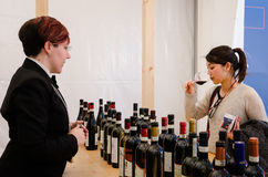 Wine tasting at Vinum Alba, Italy Royalty Free Stock Photos