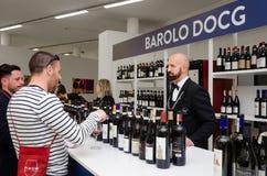 Wine tasting at Vinum Alba, Italy Royalty Free Stock Image