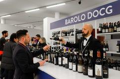 Wine tasting at Vinum Alba, Italy Royalty Free Stock Photo