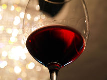 Wine Tasting. Wineglass with red wine are ready for a tasting royalty free stock images