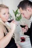 Wine tasting Stock Image