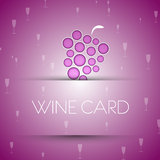 Wine template Royalty Free Stock Photography