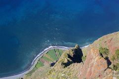 Wine terraces, view from Cabo Girao, MAdeira, Portugal Royalty Free Stock Photo