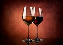 Wine on textured background Stock Photo