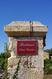Wine theme. Bordeaux saint emilion Stock Photos