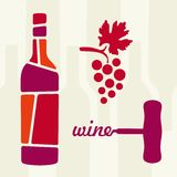 Wine theme  illustration Royalty Free Stock Photos