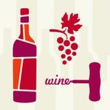 Wine theme  illustration Royalty Free Stock Photos