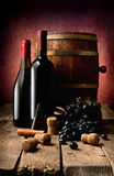 Wine theme in photo Royalty Free Stock Photography