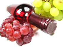 Wine tilted Royalty Free Stock Image
