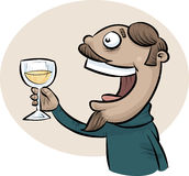 Wine Toast Man Stock Photography