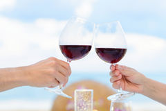 Wine toasting Royalty Free Stock Photography