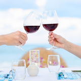 Wine toasting Royalty Free Stock Photo