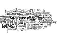 Wine Tours La Dolce Vita Word Cloud stock illustration