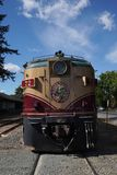 Wine train in Napa, California. NAPA VALLEY, CALIFORNIA - SEPTEMBER 21, 2017: Wine train in Napa, CA. It is an excursion train that runs between Napa and St stock photos